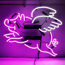Custom Flying Pig Glass Neon Light Sign