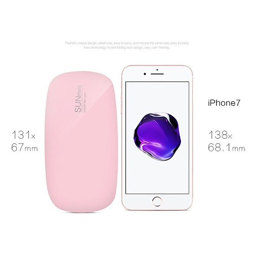 Nail Lamp 6w mini Nail dryer white pink uv LED lamp Portable usb interface Very convenient for home use