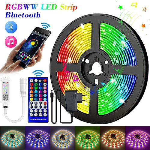 30M 20M Bluetooth RGBWW RGB LED Strip 15M  5050 DC 12V Ribbon LED Light Strip RGB Warm White Tape SMD Flexible 5M 10M Diode Tape