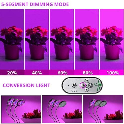 USB LED Grow Light Full Spectrum Phytolamp Grow Tent Phyto Lamp for Plants Seedling Flower Vegetable Indoor Grow Box Fitolampy