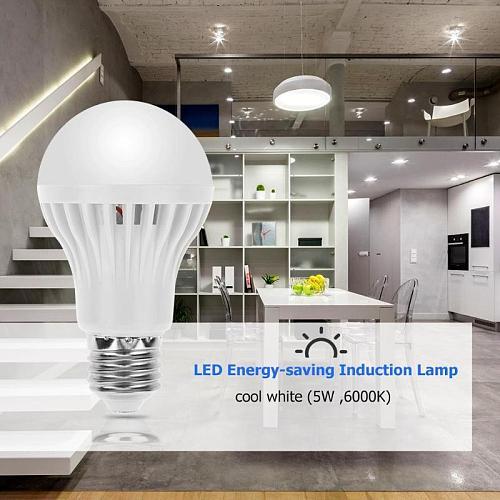 LED Voice Control PIR Motion Sensor Bulb 5W Night Light E27 Home Energy Saving Lamp Radar home bedroom wall light  for kids