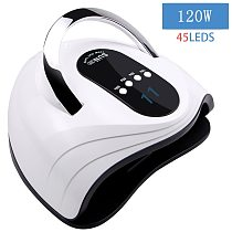 120W UV Professional Nail Dryer 45 Lamp Beads Gel Lamp Quickly Dry Nail Polish Building Gel And With LCD Display Smart Sensor