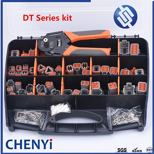321pcs Deutsch DT Series Waterproof Connector Kit Repair tool box DT06-2/3/4/6/8/12S DT04-2/3/4/6/8/12P with terminal and pliers