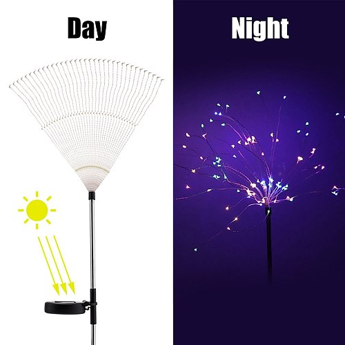 90/120/150 LEDs Solar Fireworks Colorful Outdoor IP65 Waterproof Garden Lamps Energy Saving Solar Lawn Light