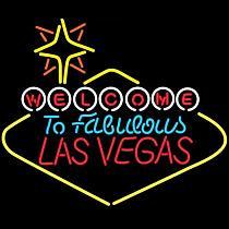 Custom Welcome To Fabulous Las Vegas Glass Neon Light Sign Beer Bar