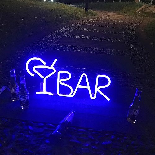 BAR Neon Sign Light LED Juice Letter Neon Lamp Tube with Remote Contral for Bar KTV Snack Shop Decor Christmas Wall Decor