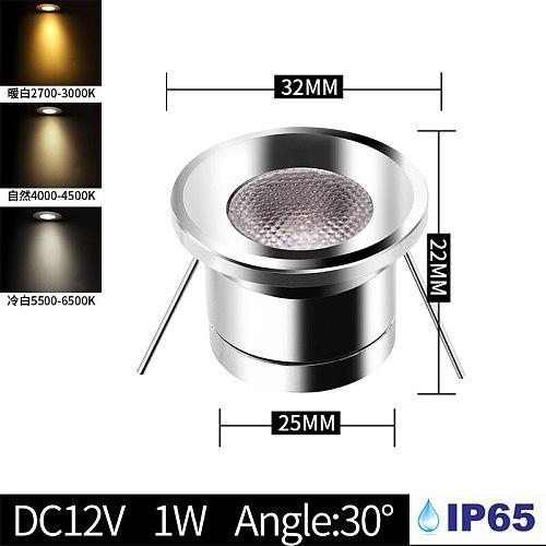 Bathroom ceiling spotlight IP65 outdoor waterproof embedded cabinet round LED light focus DC12V mini small downlight spotlight