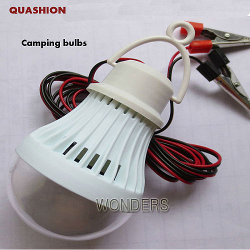 Portable Energy-Saving 3W 5W 7W 9W 12W dc-dc 12V LED Light Lamp Bulb For Camping Hiking Tent Garden with clip