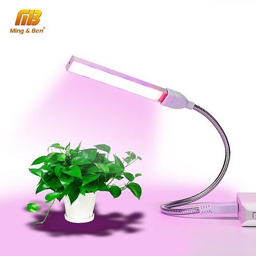 USB LED Plant Light Full Spectrum 3W 5W DC 5V Flexible Grow Lights Phyto Lamp For Garden House Flower Hydroponic IR UV Growing