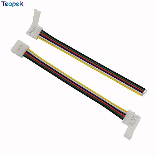 10pcs 6pin RGB CCT LED Connector 6 pin 12mm Width Solderless Adapter For RGB+CCT LED Strip 1 Clip Or 2 Clip Easy Connector