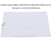 Samsung led 288pcs PCBA LED Lamp, QB288 V2 PCB with LM301H+660nm/V1 LM561C S6 3000K diy led plant grow light
