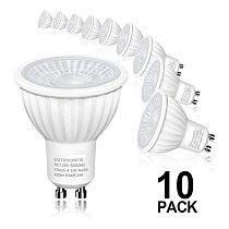 10 pack Dimmable GU10 MR16 E27 E14 LED Bulbs Equivalent Spotlight Halogen Equivalent Beam Angle 500LM Lampara 5000K Flashlight