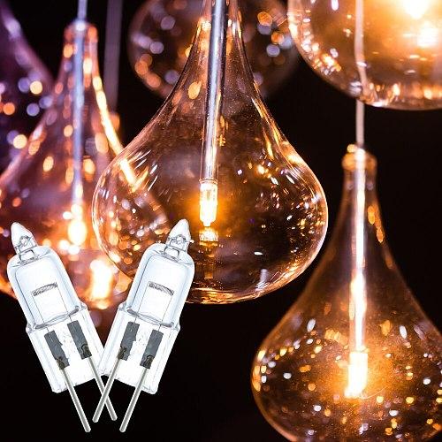 10pcs/lot DC12V 25W G4 Halogen Bulb Halogen Lamp Replace LED lamp Lampada Ampoule Transparent light Chandeliers Spotlight Bulb