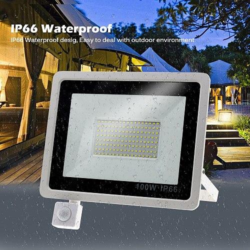 PIR Sensor LED Spotlight AC220V 10W 20W 30W 50W 100W PIR Induction Switch LED Floodlight for Doorway Garage Street Lighting.
