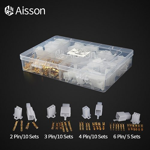 2.8/6.3mm 1/2/3/4/6 Pin Electrical Wire Connector Male Female Cable Terminal Plug Kits Sets Box-Packed Cars Motorcycles
