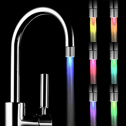Home Bedroom LED Water Faucet Creative LED Light Shower Head Water Romantic 7 Color Change  Bath Home Bathroom Glow Lampse#2021