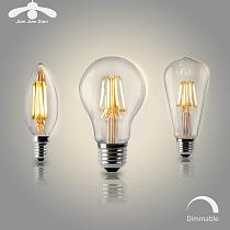 LED Candle Bulb E14 Vintage C35 Filament Light Bulb E27 LED Edison Globe Lamp 220V A60 Glass 2W 4W 6W 8W DIMMABLE