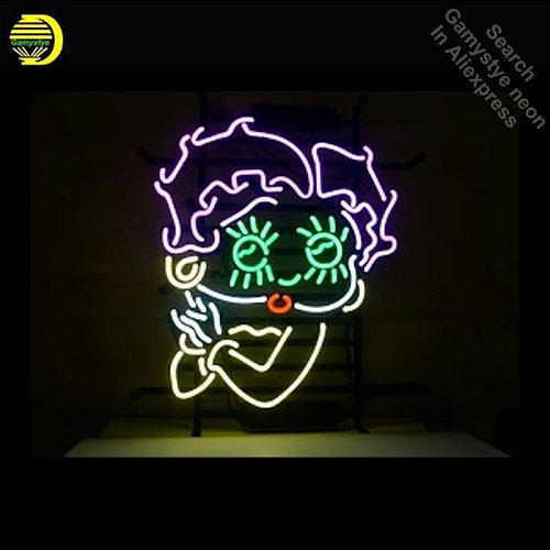 Betty Boop Classic Neon Sign Ice Cream neon Light Sign galss tubes Commercial Recreation Rooms Light Iconic Neon signs for sale