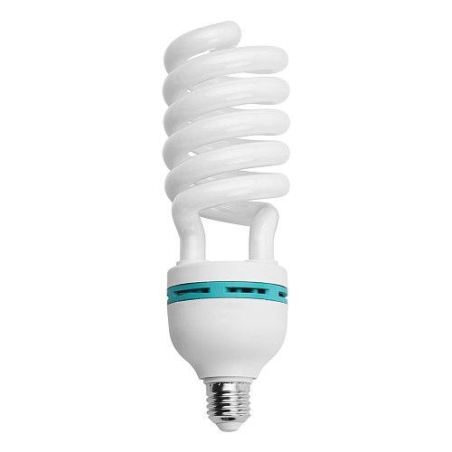 Andoer E27 135W Spiral Fluorescent Light Bulb 5500K Daylight CRI90 Socket Energy Saving 110V/220V for Photography Video Lighting