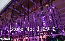 5pcs 2m long DMX512 360degree 3D LED digital meteor tube;3D dmx vertical tube;32pixels/each tube;IP65;DC12V;48W;30mm diameter