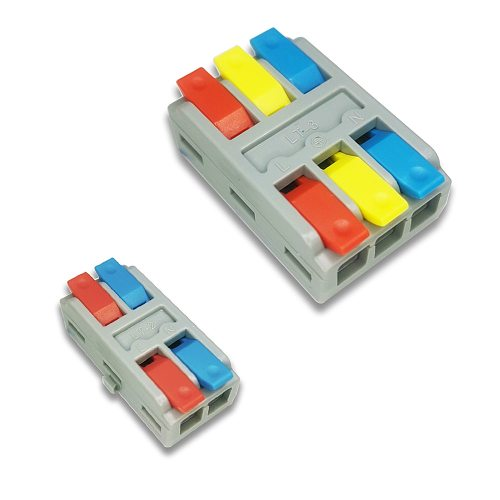 Universal Mini Fast Cable Connector Push-in Junction Box 1/3/5/10 Pcs/Lot Push-in Junction Box SPL-2/3 Leds Connected Terminal