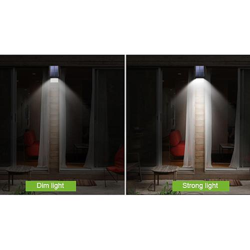 LED IP65 Solar Power Wall Lights Energy Colourless Fading High Lumen No Flash Screen Save Emergency Security Garden Yard Lamp