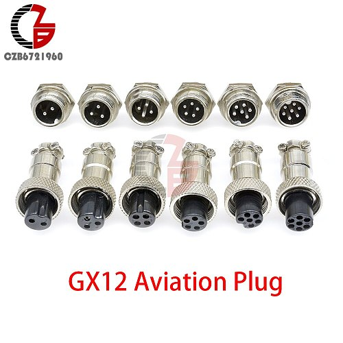 1Pair GX12 GX16 GX20 2/3/4/5/6/7/8/9/10/12/14/15P 3-10A 150V Male Female Aviation Connector Wire Panel Mount Screw Plug Socket