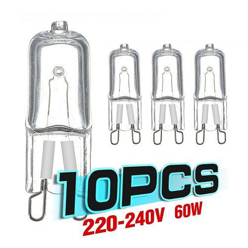 10pcs G9 Eco Halogen light bulbs  G9 220V 20W / 25W / 40W / 60W Capsule LED Lamp Bulbs Inserted Beads Crystal Lamp Halogen Bulb