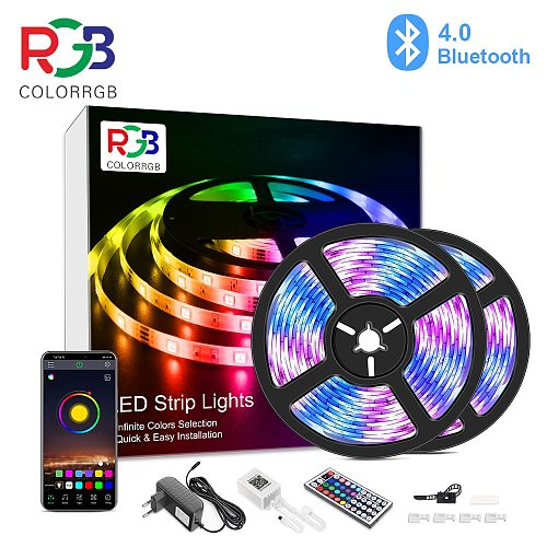 10M 20M, LED RGB Strip Light,  APP Control Color Changing LED SMD 5050 RGB Light Strips with RF Remote For for Rooms, Party,