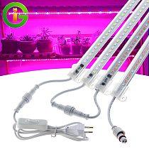 AC220V LED Grow Light Full Spectrum 72leds LED Plant Light Bar Waterproof Connector Phyto Lamps For Indoor Plant Flower Seedling