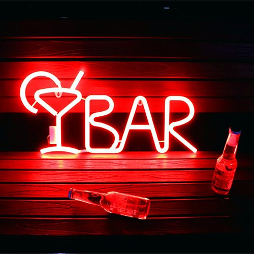 LED BAR Neon Sign Light Art Decor Neon Lamp Tube with Remote Contral for Party Bar KTV Home Room Wall Decorative night Lamp