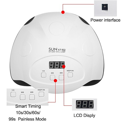 84/54/24W Pro UV Lamp LED Nail Lamp Nail Dryer For All Gels Polish Sun Light Infrared Sensing 10/30/60s Timer Smart For Manicure