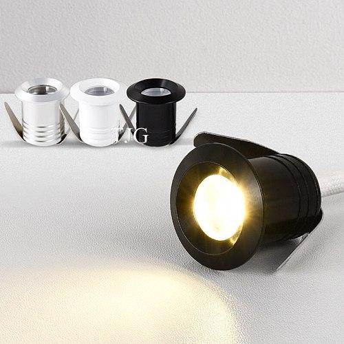 1W 3W led Spotlight Cabinet Mini Spot Light Recessed Down light Cupboard Showcase Display Light AC85-265V 12V Aluminum Body