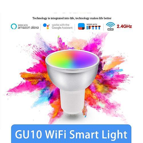 5W GU10 Smart Light Bulb RGBCW LED Spotlight Bulb LED Lamp Smart Life Remote Control Work With Alexa Google Home Smart Home