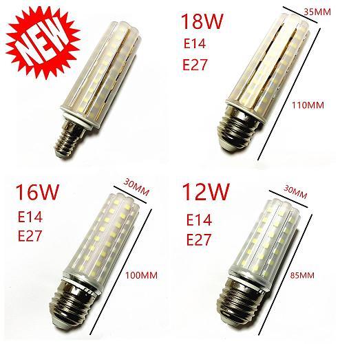New Light Bulb E14 E27 LED Double Color Lamp SMD2835 12W 16W 18W 220V/AC Corn Bulb 60 80 90Leds Light Bulb Corn Light chandelier