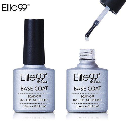 Elite99 10ml Base Coat Soak Off Gel Nail Polish UV LED Lamp Needed Long Lasting Foundation Nail Gel Varnish Nail Art Manicure