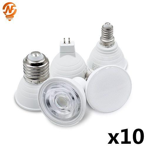 10pcs/lot E27 LED E14 Lamp MR16 Spotlight BULB 6W Spot Light Bulb 220V 2835SMD lampara LED Bombilla GU10 led Ampul Home Lighting