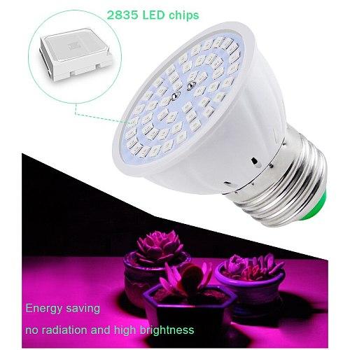 Phyto Led B22 Hydroponic Growth Light E27 Led Grow Bulb MR16 Full Spectrum 220V UV Lamp Plant E14 for Plants Flower Seedling