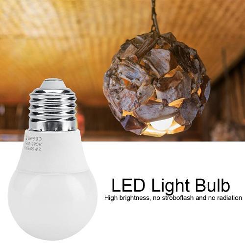 E27 Energy Saving Light Bulb 3W AC85-265V High Bright LED Light Bulb Durable Lamp Bulb for Home Room Lighting