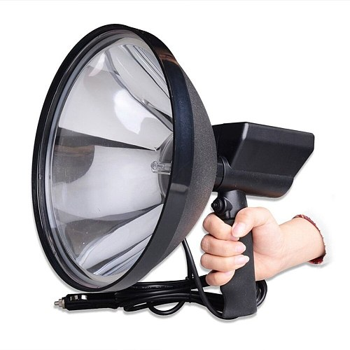 Portable Handheld HID Xenon Lamp 9 inch 1000W 245mm Outdoor Camping Hunting Fishing Spot Light Spotlight Brightness