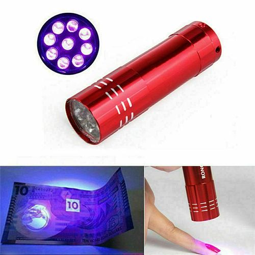 Mini Portable Led UV Ultraviolet rays Gel Curing Lamp Machine Art Light Ladies Dryer Fast Cure Nail Flashlight Torches 9 LEDs