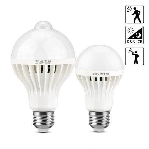 Motion Sensor Bulb / Sound Invoice Control Lamps LED E27 LED Lamp PIR Sensor Light 2835 leds 220V LED Lights Home Pathway