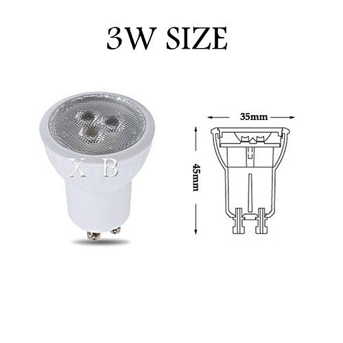 Dimmable LED Bulb Mini 3W GU10 MR11 AC85-265V 35mm Led Spotlights Warm white Natural white cold white LED lamp SMD 2835