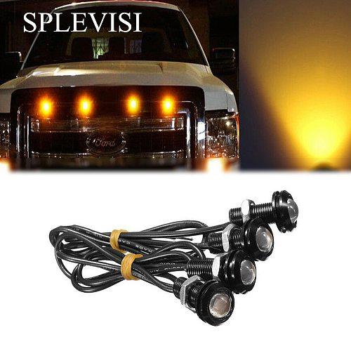 4pc Waterproof Amber / White/ Blue LED Grille Lighting Kit, Universal Fit Truck SUV SVT Raptor