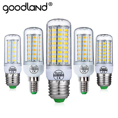 goodland E27 LED Bulb E14 LED Lamp AC 220V 240V Corn Candle Lights 24 36 48 56 69 72 LEDs Chandlier Lighting For Home Decoration