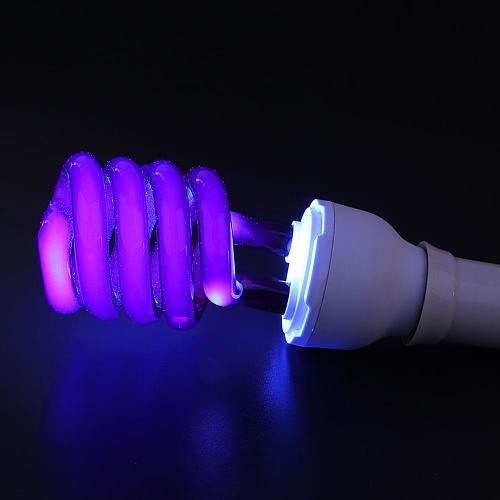 Led Bulb E27 Lamp UV Fluorescent Light Ultraviolet 36W Screw Blacklight Bright Energy Saving CFL