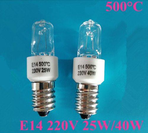 1PCS High temperature resistant 500 degrees E14 220V 25W   230V 40W oven light roasted sweet potato bulb