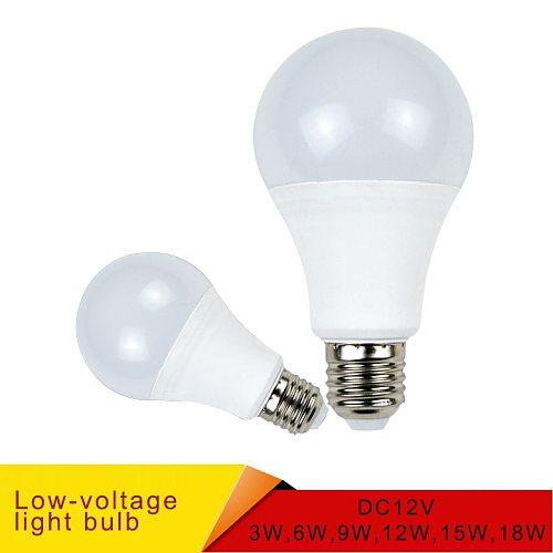 E27 LED Bulb Lights DC 12V smd 2835chip lampada luz E27 lamp 3W 6W 9W 12W 15W 18W spot bulb Led Light Bulbs for Outdoor Lighting
