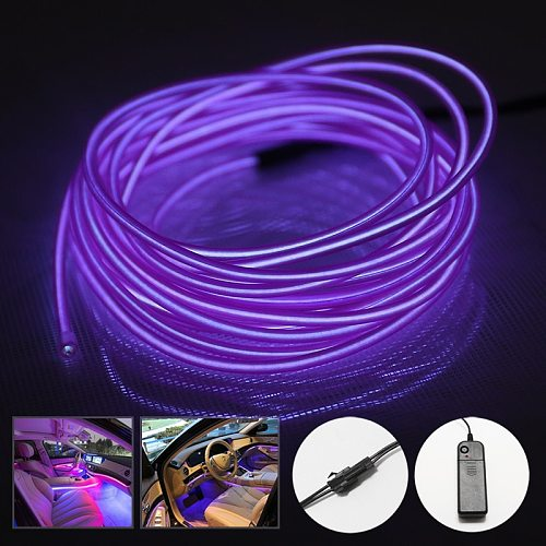Neon Light El Led LED StripRGB Neon Wire Under Car Flexible Soft Tube Lights Christmas Sign Anime/Body Woman/Rooms Rope Light