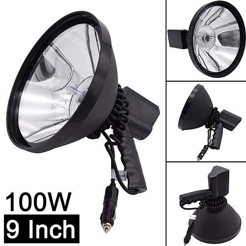 9 inch 1000W xenon lamp Outdoor Searchlight portable spotlight lantern Handheld hunting Lights fishing patrol HID waterproof 18V